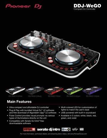 DOWNLOAD THE DDJ-WeGO PRODUCT SHEET - Pioneer DJ