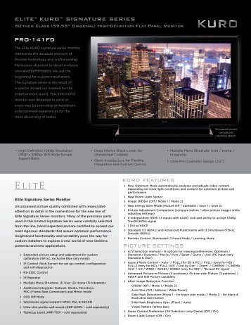 ELITE® KURO™ SIGNATURE SERIES PRO-141FD - Pioneer
