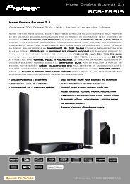 Consultez la fiche produit - Pioneer