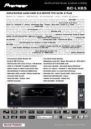 Télécharger Fiche Technique du PIONEER SC-LX85 - Cobrason