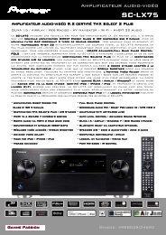 Fiche SC-LX75