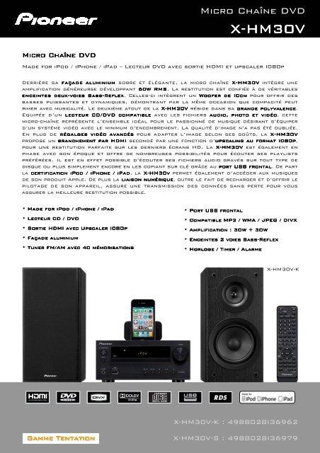 Made for iPod / iPhone / iPad