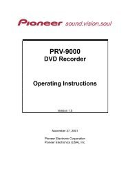 PRV-9000 Operating Instructions - Pioneer