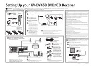 Setting Up your XV-DV430 DVD/CD Receiver 1 - Pioneer