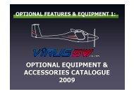 optional equipment & accessories catalogue 2009 - Pipistrel