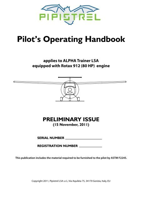 ALPHA Trainer Manual Final pdf - Pipistrel