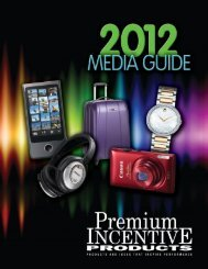 Complete 2012 Media Guide - Premium Incentive Products