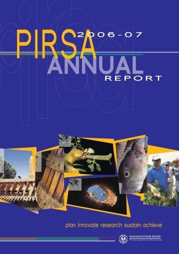 Annual Report 2006-07 (PDF 512.2 KB ) - PIRSA - SA.Gov.au