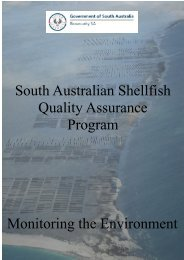 South Australian Shellfish Quality Assurance Program - Monitoring the