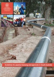 Guidelines for pipeline licensing and approvals in South Australia