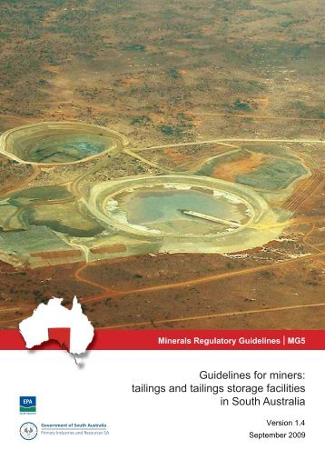 MG5: Tailings and tailings storage facilities - PIRSA - SA.Gov.au