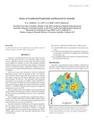 status of Geothermal Exploration and research in Australia