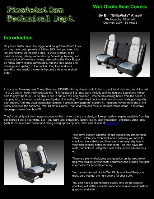 Phenomenal Wet Okole Seat Covers Introduction Pirate4X4 Com Caraccident5 Cool Chair Designs And Ideas Caraccident5Info