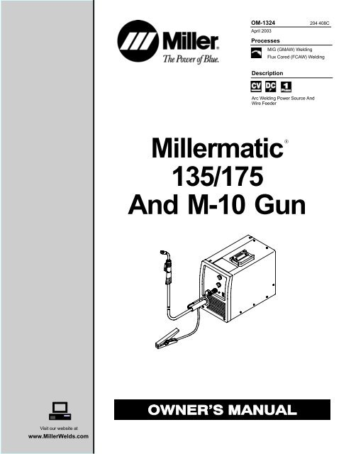 MIG Gun Fit Miller 90 120 125 130 135 140 150 175 180 MillerMatic mig welder
