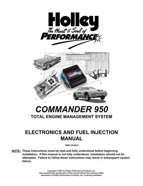 Holley Commander 950 EFI system Manual - Pirate4x4 Com