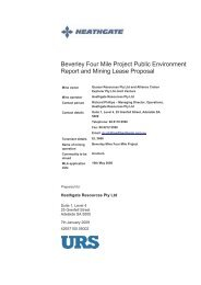 Beverley Four Mile Project Public Environment Report and Mining ...