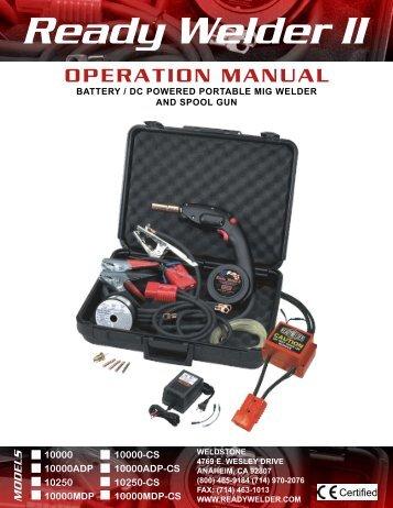 Ready Welder II Operation Manual. - Pirate4x4.Com