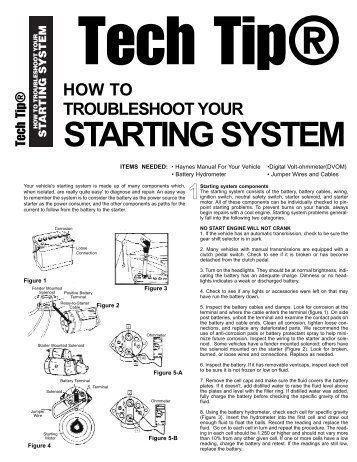 How to troubleshoot starting systems - Pirate4x4.Com