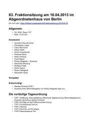 Protokoll der 63. Fraktionssitzung vom 16. April 2013
