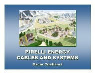 pirelli energy cables and systems pirelli energy cables and systems