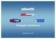 Presentazione Olivetti - telecom Italia, Milano 27 settembre 2 - Pirelli