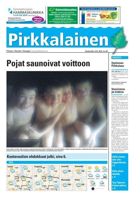 Pirkkalaisen taitto 19 9 2012 indd - Pirkkalainen