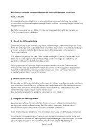 Seite 1 von 2 Richtlinie zur Vergabe von Zuwendungen der ... - Pirna