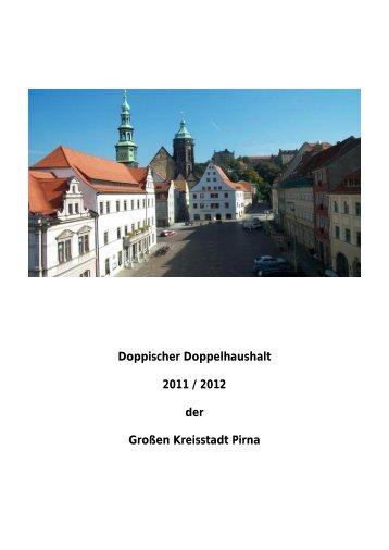Doppischer Doppelhaushalt 2011/2012 - Pirna