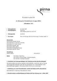 Niederschrift ORG 24.04.07 - Pirna