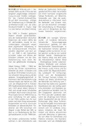 Ortschronik November 2005 - Pirna