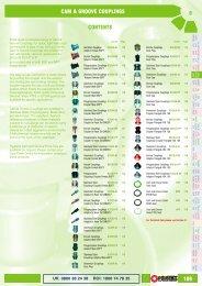 6 109 CONTENTS CAM & GROOVE COUPLINGS - Pirtek