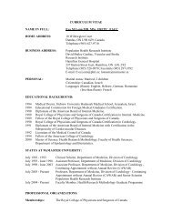 CURRICULUM VITAE - European Society of Cardiology