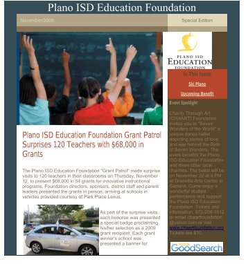 Plano ISD Education Foundation - Plano Independent School District