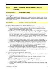 Goal: Ensure Continued Improvement in Student Learning - Plano ...