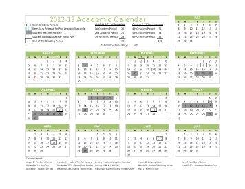 2012-13 Academic Calendar
