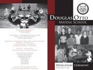 Dedication program - Plano Independent School District
