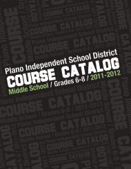 Grades 6-8 Course Catalog - Plano Independent School District