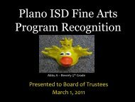 Fine Arts Recognition Month Report