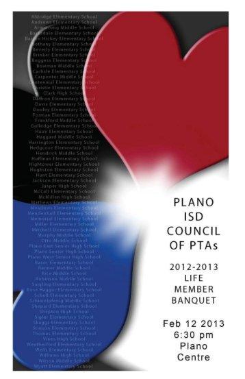 keepsake printed program - Plano Independent School District