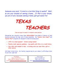 Teacher Loans Info