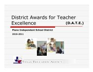 District Awards for Teacher Excellence - Plano Independent School ...