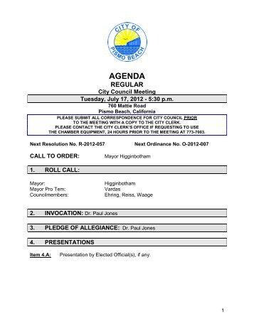 071712 AGENDA.pdf - City of Pismo Beach