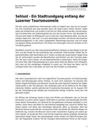 Sehlust - Ein Stadtrundgang entlang der Luzerner Tourismusmeile