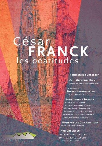 FRANCK - Konzertchor Burgdorf