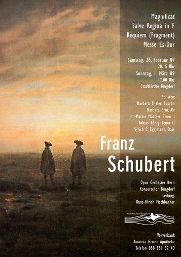 Franz Schubert - Konzertchor Burgdorf