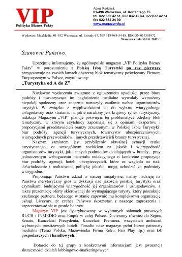 Turystyka od A do Z (PDF 225.33 kB) - Polska Izba Turystyki