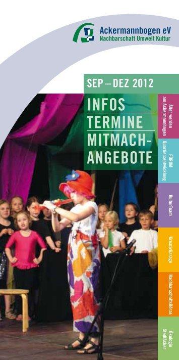Infos TermIne mITmach- angeboTe seP – DeZ 2012