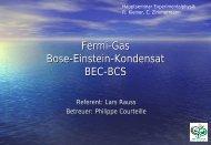 Fermi-Gas Bose-Einstein-Kondensat BEC-BCS