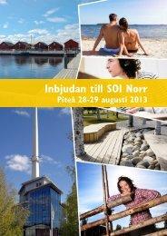 Inbjudan till SOI Norr - Piteå kommun