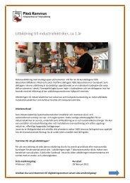 Utbildning till industrielektriker, ca 1 år